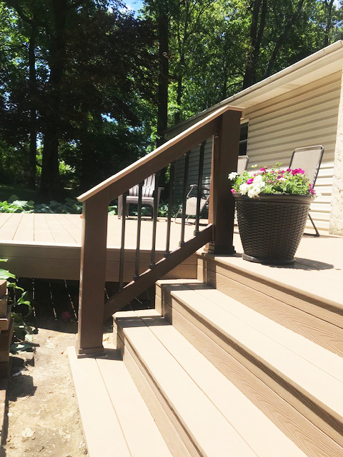 composite deck steps and rail