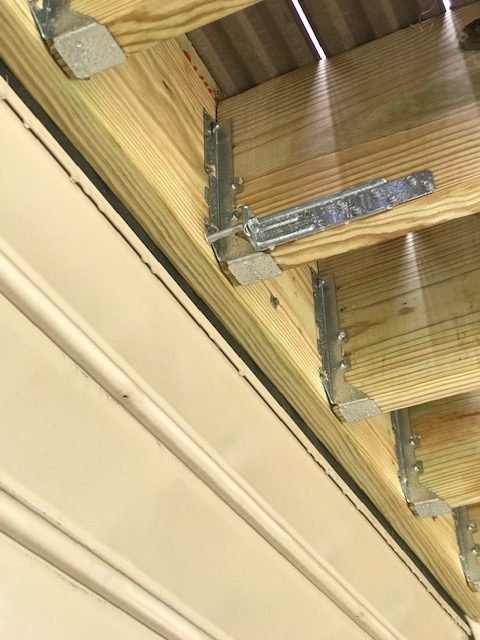 2x8 girders supporting composite decking