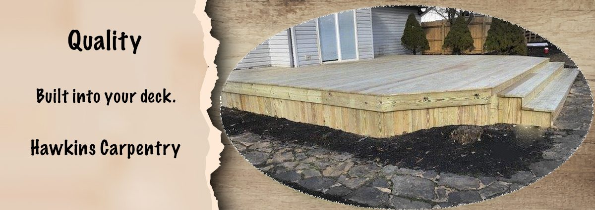 More quality decking surrounded by natural pavers