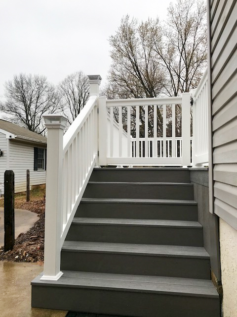 Quality outdoor stairway and railing in the Cochranville PA area