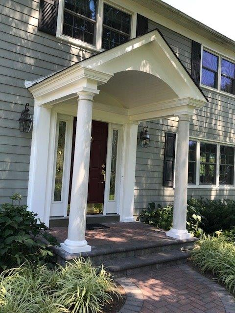 Front porch additions by Hawkins Carpentry